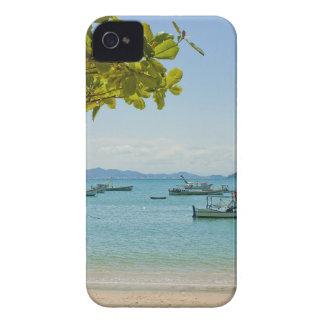 Coastal Art Blue Sea and Boats Photograph iPhone 4 Cases