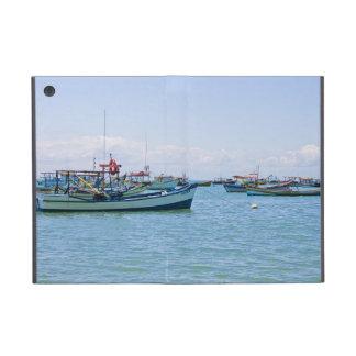 Coastal Art Blue Sea and Boats Photograph Covers For iPad Mini