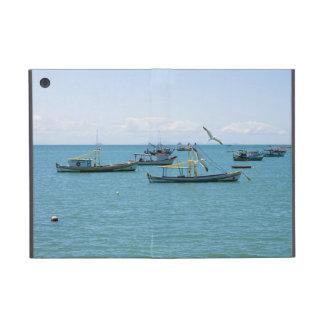 Coastal Art Blue Sea and Boats Photograph Cover For iPad Mini