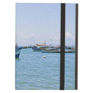 Coastal Art Blue Sea and Boats Photograph iPad Covers