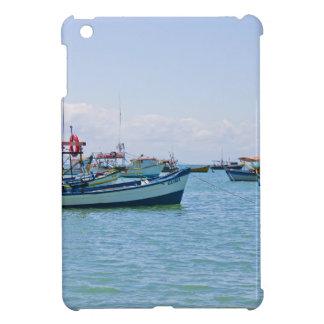 Coastal Art Blue Sea and Boats Photograph iPad Mini Cases