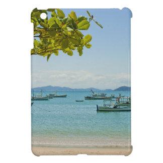 Coastal Art Blue Sea and Boats Photograph iPad Mini Cover