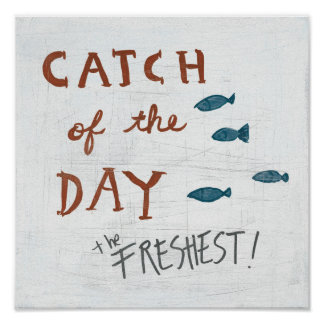 Coastal Art   Catch of the day Poster