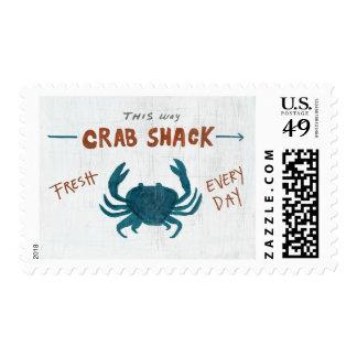 Coastal Art   Crab Shack Postage