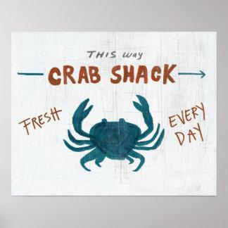 Coastal Art   Crab Shack Poster