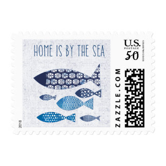 Coastal Art| Home is By the Sea Postage