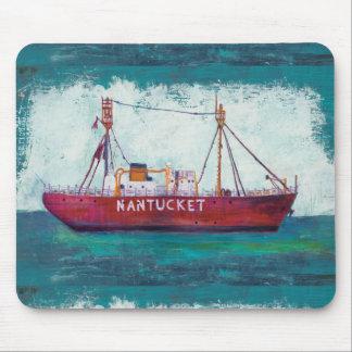 Coastal Art | Nantucket Lightship Mouse Pad