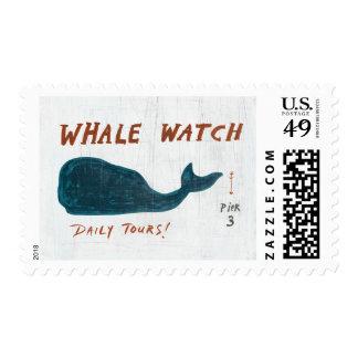 Coastal Art   Whale Watch Postage