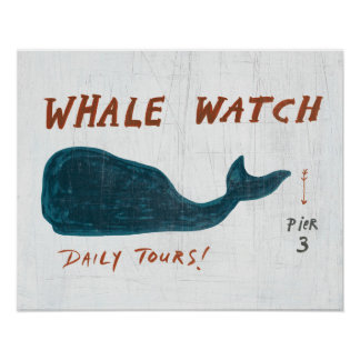 Coastal Art | Whale Watch Poster