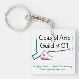 Coastal Arts Guild CT Single-Sided Square Acrylic Keychain