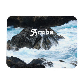 Coastal Aruba Rectangle Magnet