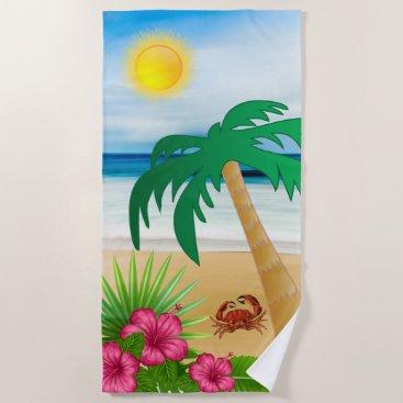 Beach Themed Coastal Beach Design Beach Towel
