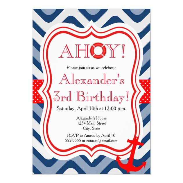 64 Nautical Kids Birthday Party Invitations And Ideas