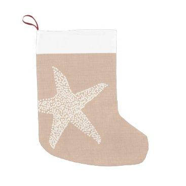 Christmas Themed Coastal Beach Starfish Christmas Holiday Small Christmas Stocking