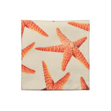 Beach Themed Coastal Beach Style Red Starfish Napkin