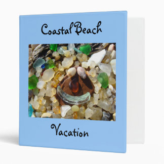 Coastal Beach Vacation binders Smiley Face Agates