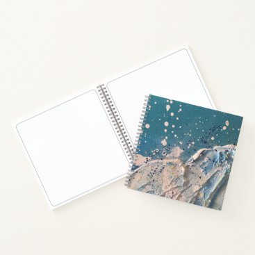 Beach Themed Coastal Beach Wave Fine Art Painting Notebook