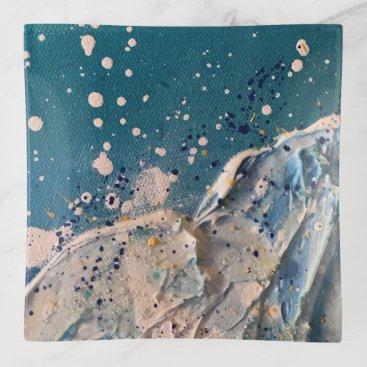 Beach Themed Coastal Beach Wave Fine Art Painting Trinket Trays