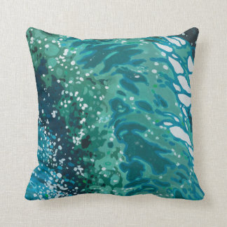 Coastal Beach Waves Decor Pillow by Juul
