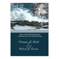Coastal Beach Wedding Card