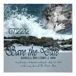 Coastal Beach Wedding 5.25x5.25 Square Paper Invitation Card