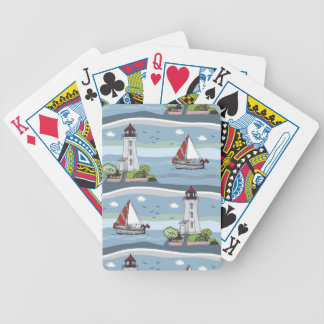 Coastal Bicycle Playing Cards
