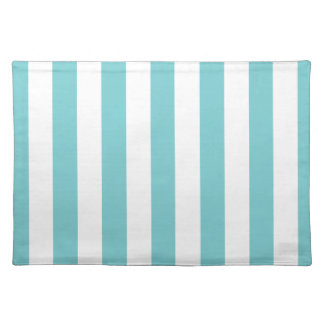 Coastal Blue Awning Stripe Cloth Placemat