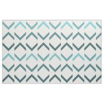 Coastal Blue Chevron Drop Pattern Fabric