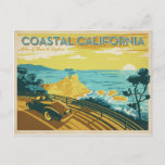 """Coastal California Postcard<br><div class=""""desc"""">Anderson Design Group is an award-winning illustration and design firm in Nashville,  Tennessee. Founder Joel Anderson directs a team of talented artists to create original poster art that looks like classic vintage advertising prints from the 1920s to the 1960s.</div>"""