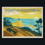 "Coastal California Postcard<br><div class=""desc"">Anderson Design Group is an award-winning illustration and design firm in Nashville,  Tennessee. Founder Joel Anderson directs a team of talented artists to create original poster art that looks like classic vintage advertising prints from the 1920s to the 1960s.</div>"