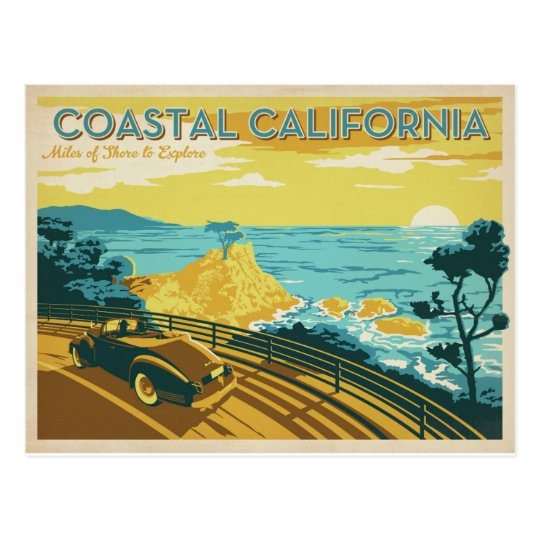Coastal California Postcard Zazzle Com