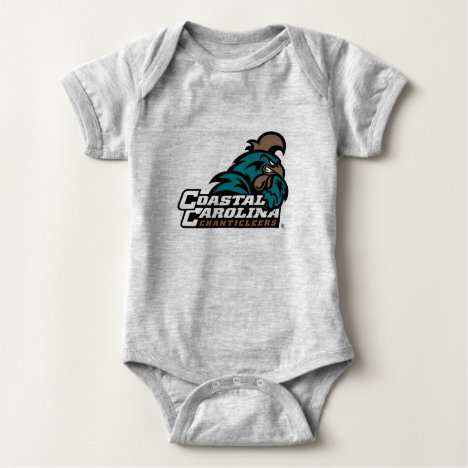 Coastal Carolina Logo and Wordmark Baby Bodysuit
