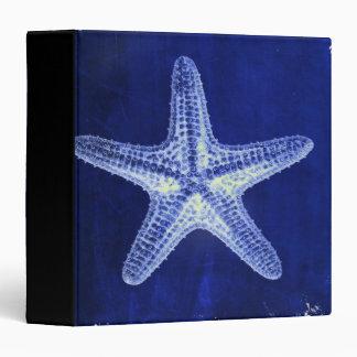 coastal chic beach rustic nautical blue starfish 3 ring binder