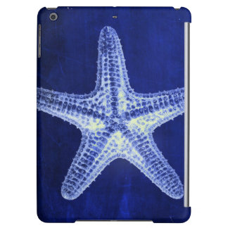 coastal chic beach rustic nautical blue starfish iPad air covers