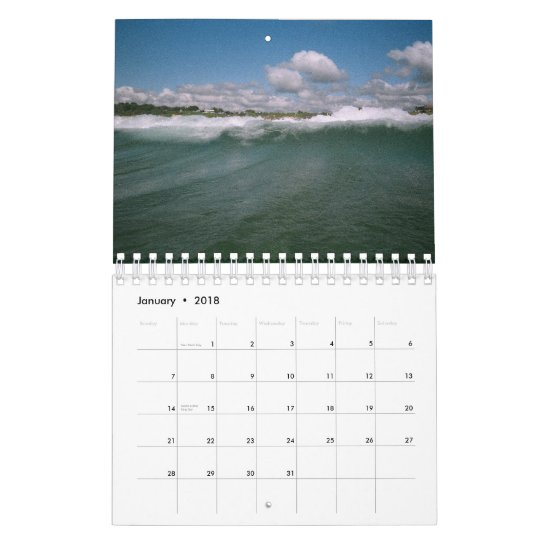 Coastal Chill Calendar