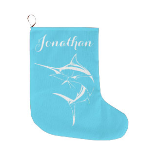 Coastal Christmas Marlin Stocking