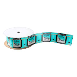 Coastal Coffee Satin Ribbon