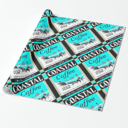 Coastal Coffee Wrapping Paper
