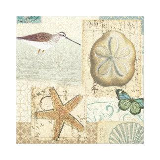 Coastal Collage Canvas Print