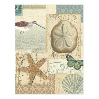 Coastal Collage Postcard
