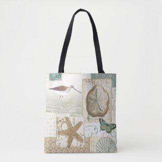 Coastal Collage Tote Bag