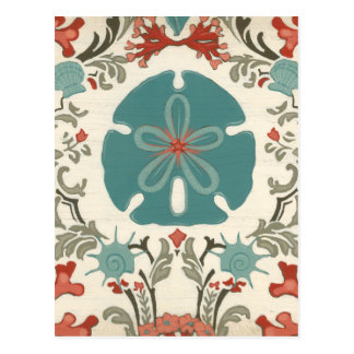 Coastal Damask II Postcard