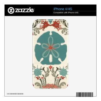 Coastal Damask II iPhone 4 Decals