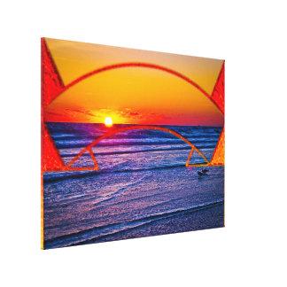 Coastal Daytona Beach Shores Architecture & Landsc Canvas Print