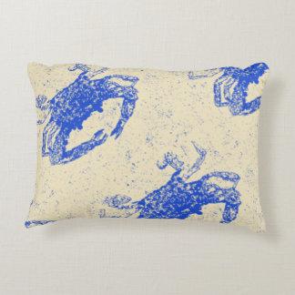 Coastal Decor, Blue Crab Pillow, Lumbar Accent Pillow