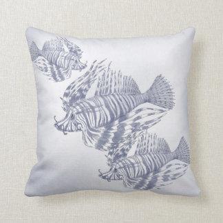 Coastal Decor  Blue fish Throw Pillow