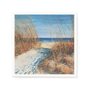 Coastal Decor Sand Dunes Beach Art | Napkins