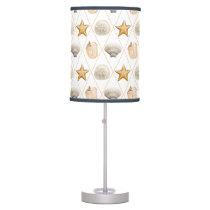 Coastal Decor Seashell Pattern Table Lamp
