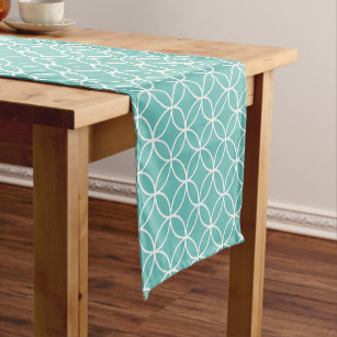 Coastal Diamond Pattern Short Table Runner