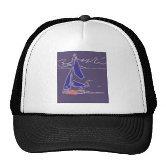 Coastal Dinghy Sailing - abstract boat design Trucker Hat